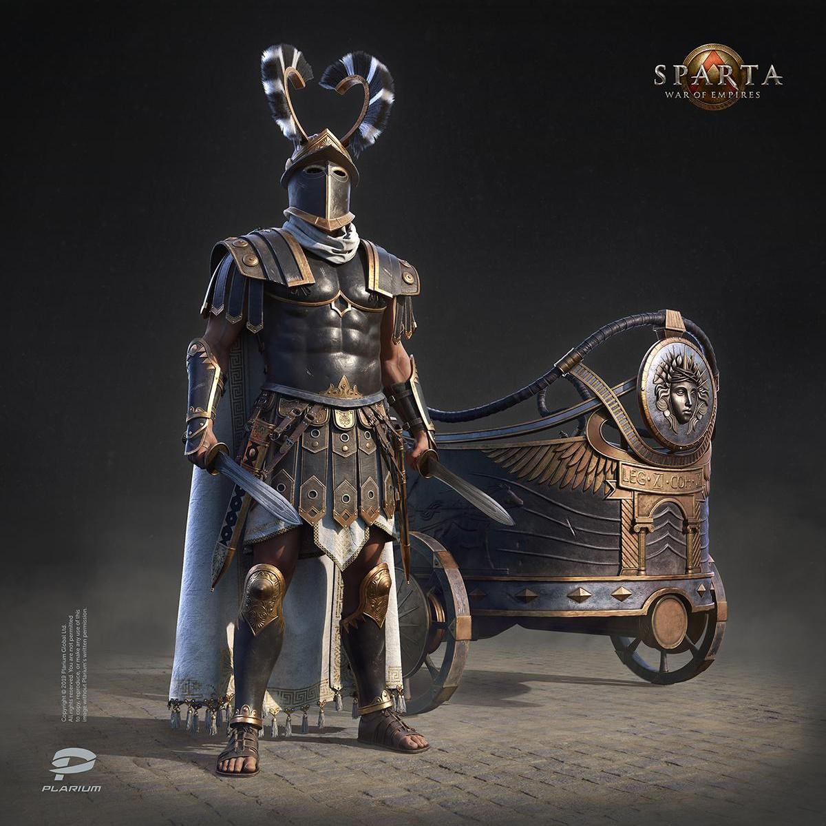 empire gladiator warrior 3d model