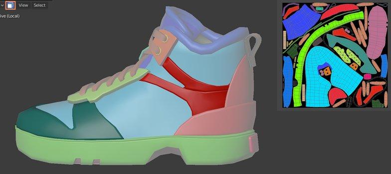 sneakers rendering model