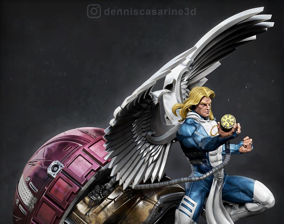 Angel vs Sentinelby Dennis Casarine