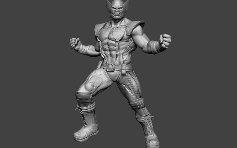 wolverine 3d sculpt superhero