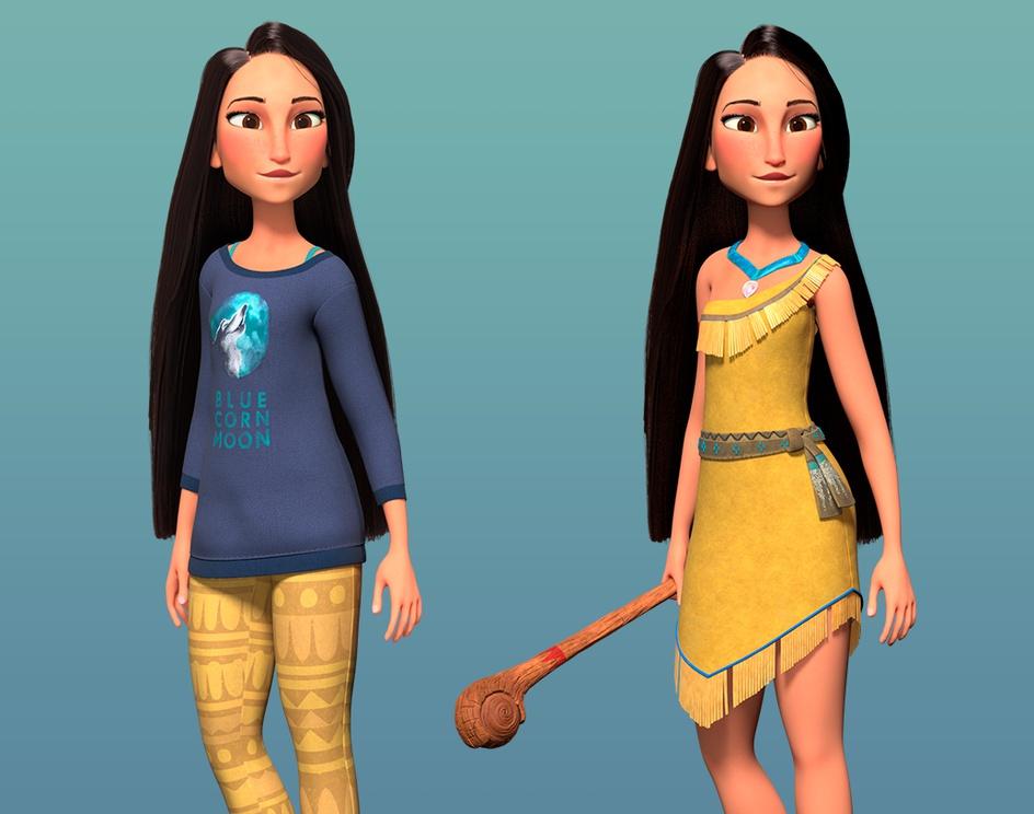 Pocahontas (Fan art from Ralph Breaks the internet)by Semper_3D