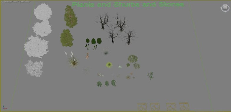 models of trees and plants