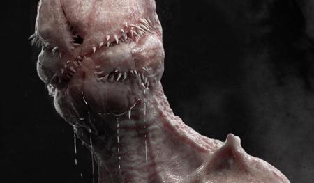 alien monster 3d model design sculpture render realistic