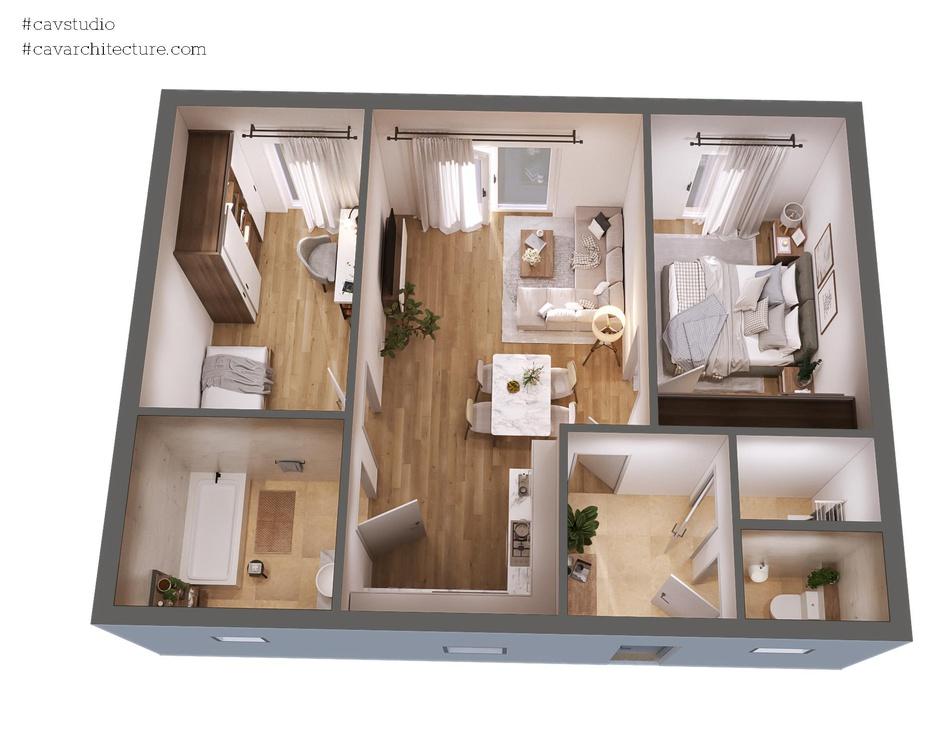 CAV Studio - 3d floor planby CAVstudio