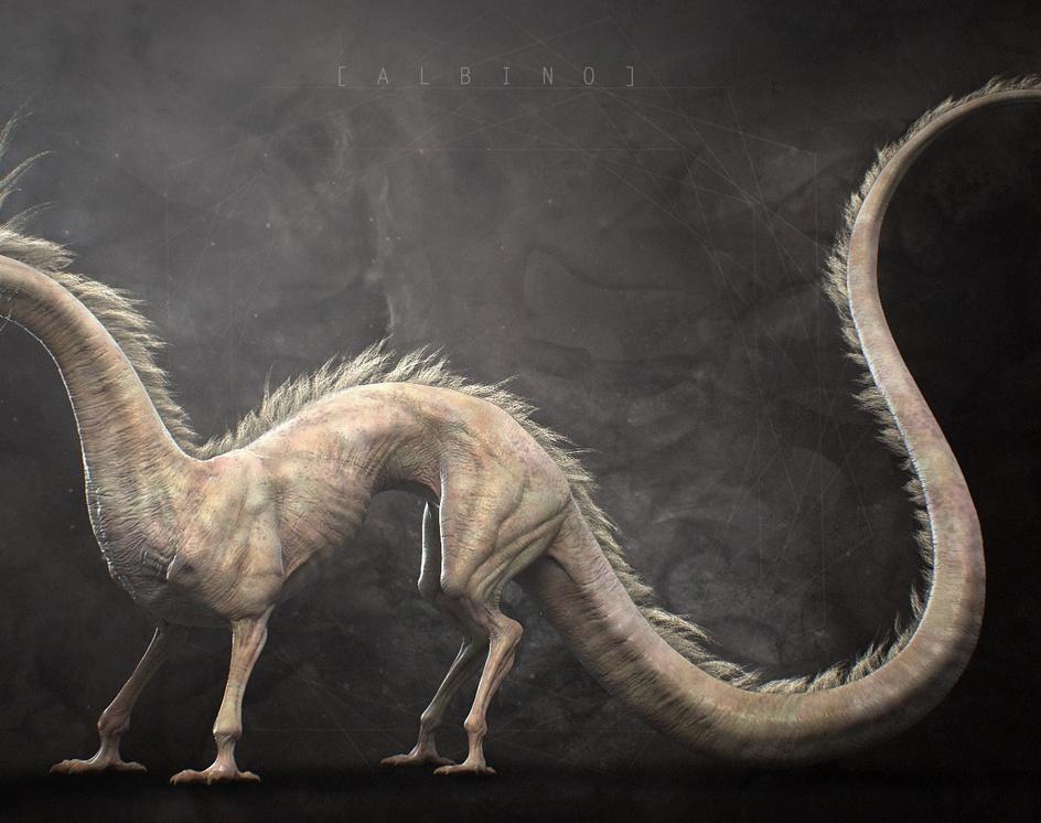 Albino dragonby Yuuki_Morita