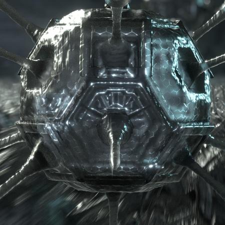 science fiction metallic object