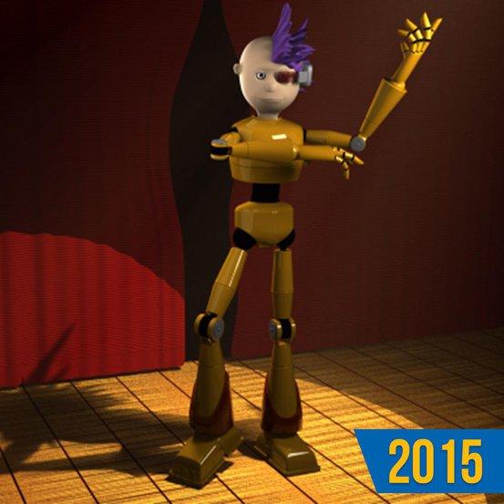 dancing robot beginners model render design 3d