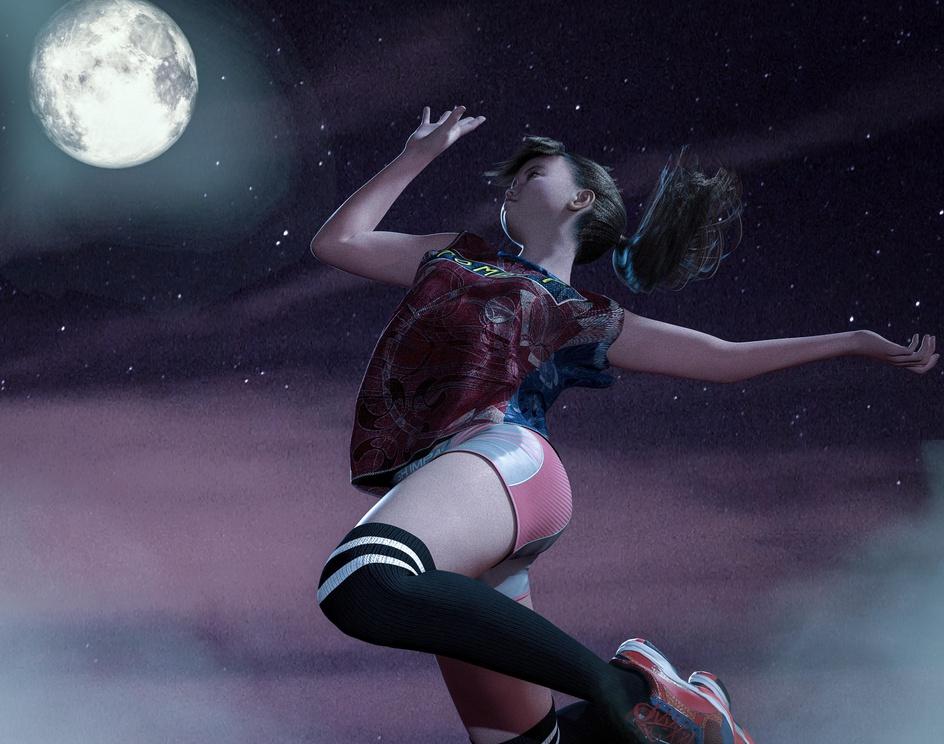 Spike to the moon!by yashiro.amamiya