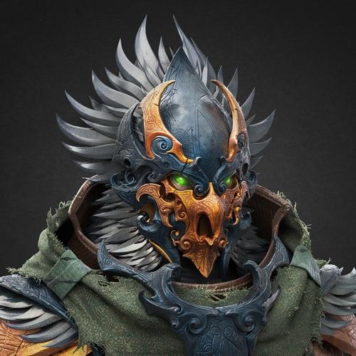 bird ancient warrior character