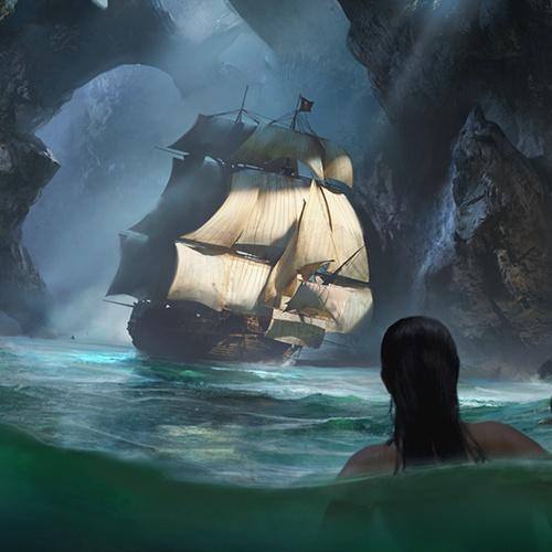 mermaid siren ship sails