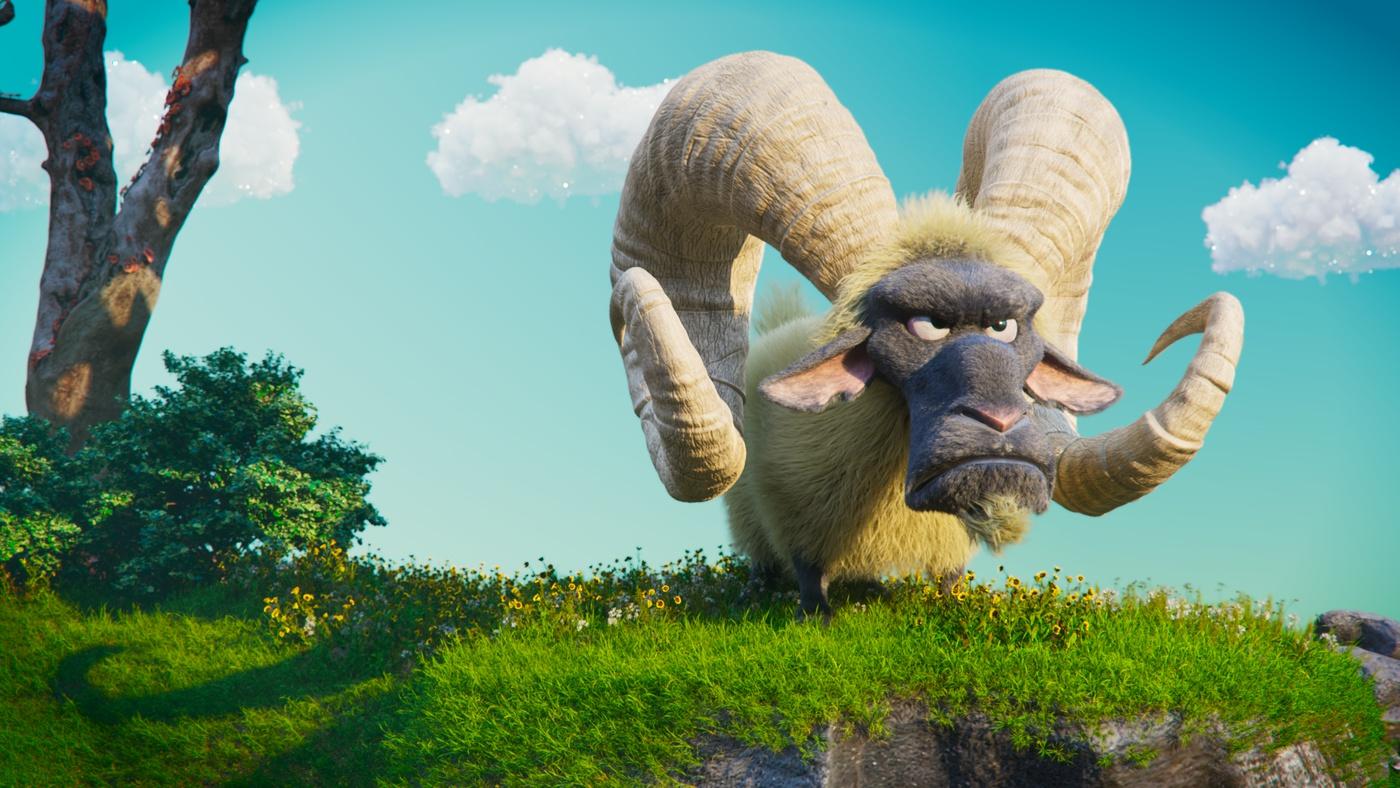 spyro game fanart goat 3d