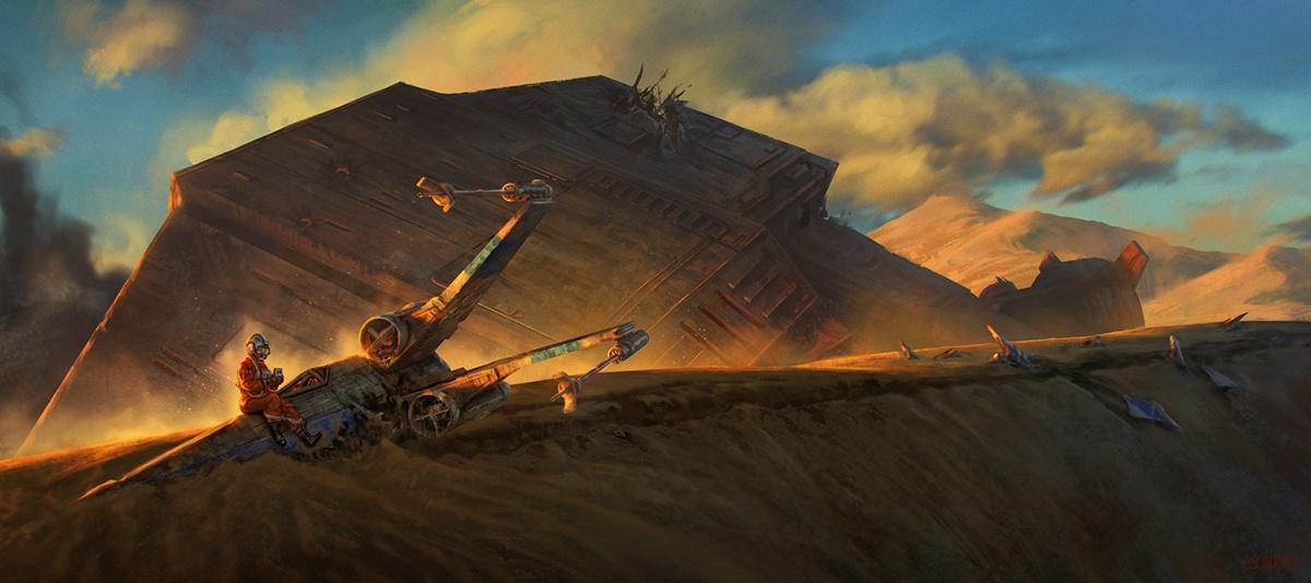 star wars ship pilot landscape