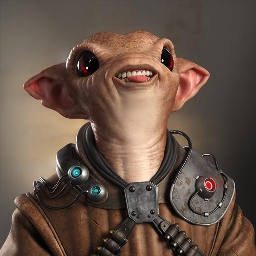 cute alien 3d art