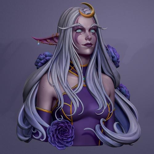 female character design model 3d profile