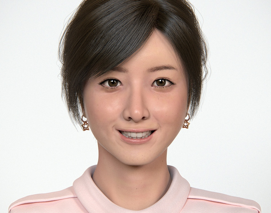 Actress, Realistic Portraitby Masayoshi Shinohara