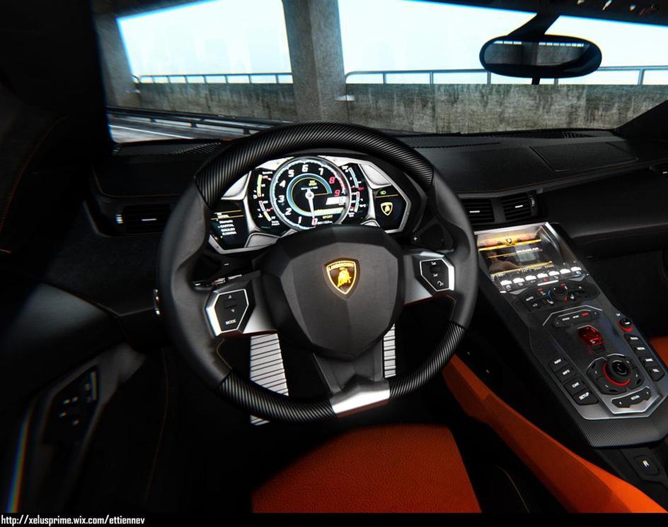 Lamborghini Aventador Interiorby Xelus