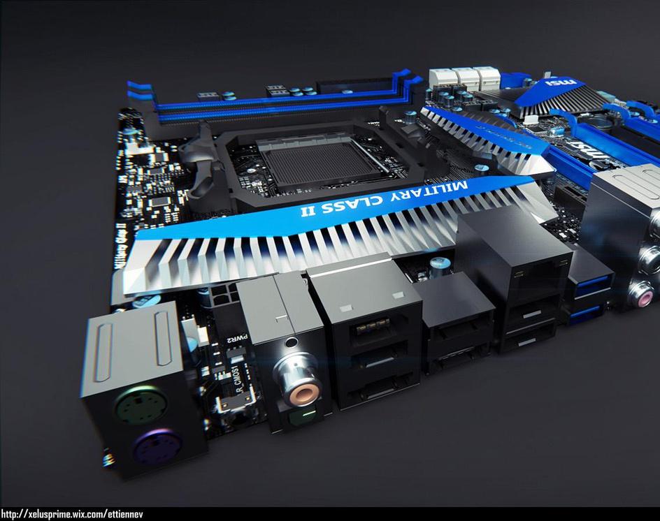 MSI 990FXA-GD80 Motherboard 03by Xelus