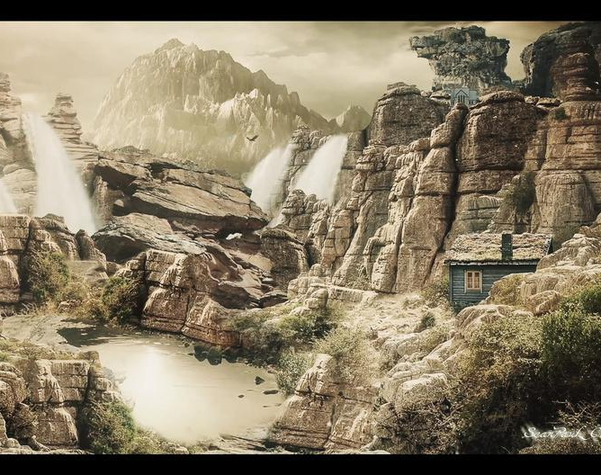 Matte Painting Epic Mountainsby SeanPauL Carpio