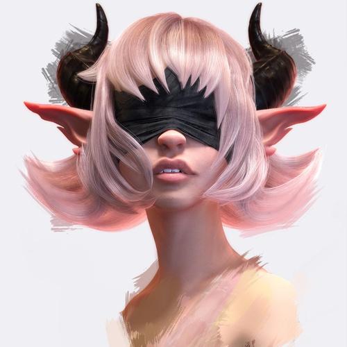 demon girl mythical character design