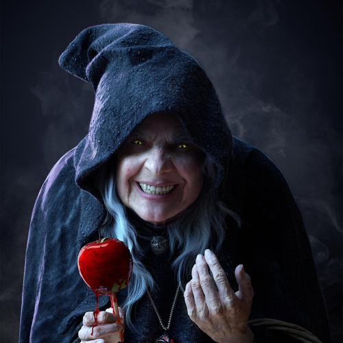 scary elderly witch