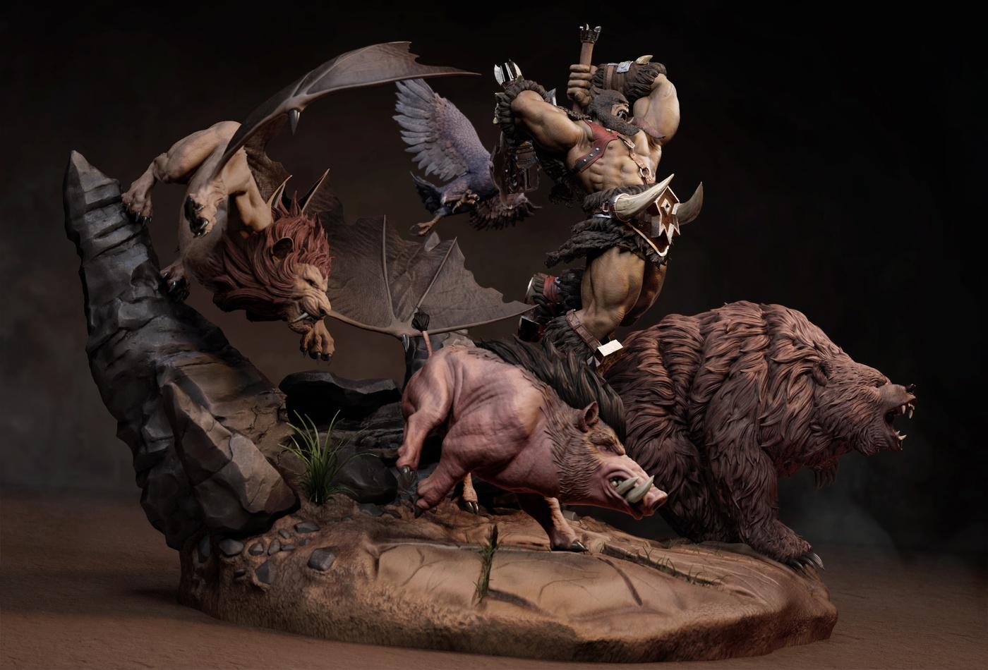 rexxar animal companion warcraft fan art model