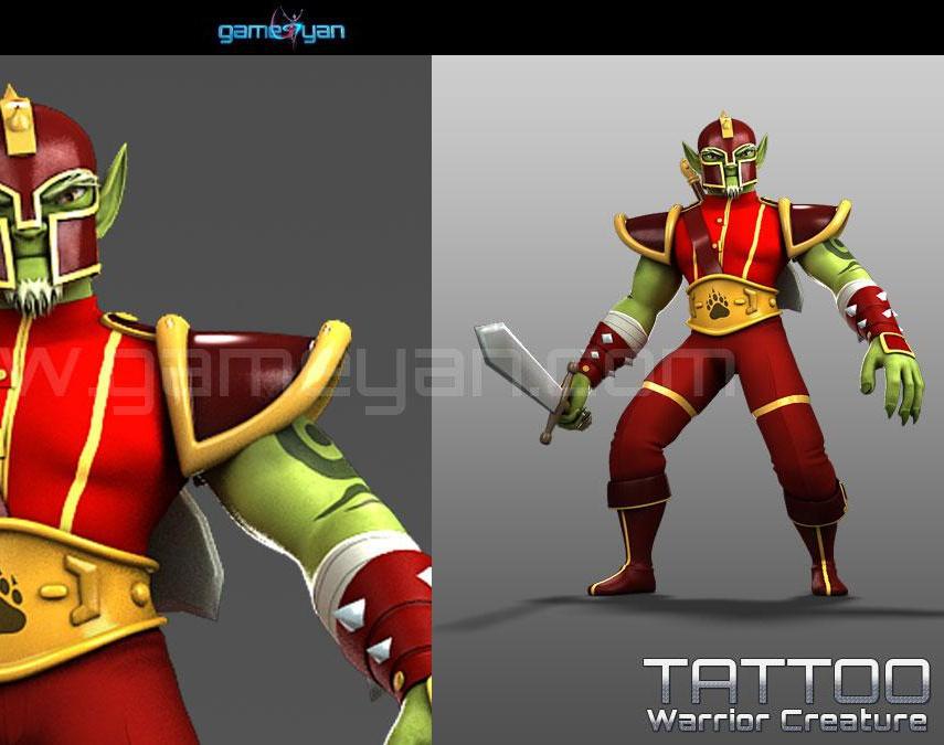 Tattoo Warrior Creature Character Modelingby GameYan