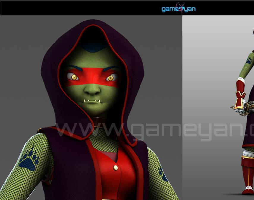Lotha Creature Character Rigging  Animation by GameYan