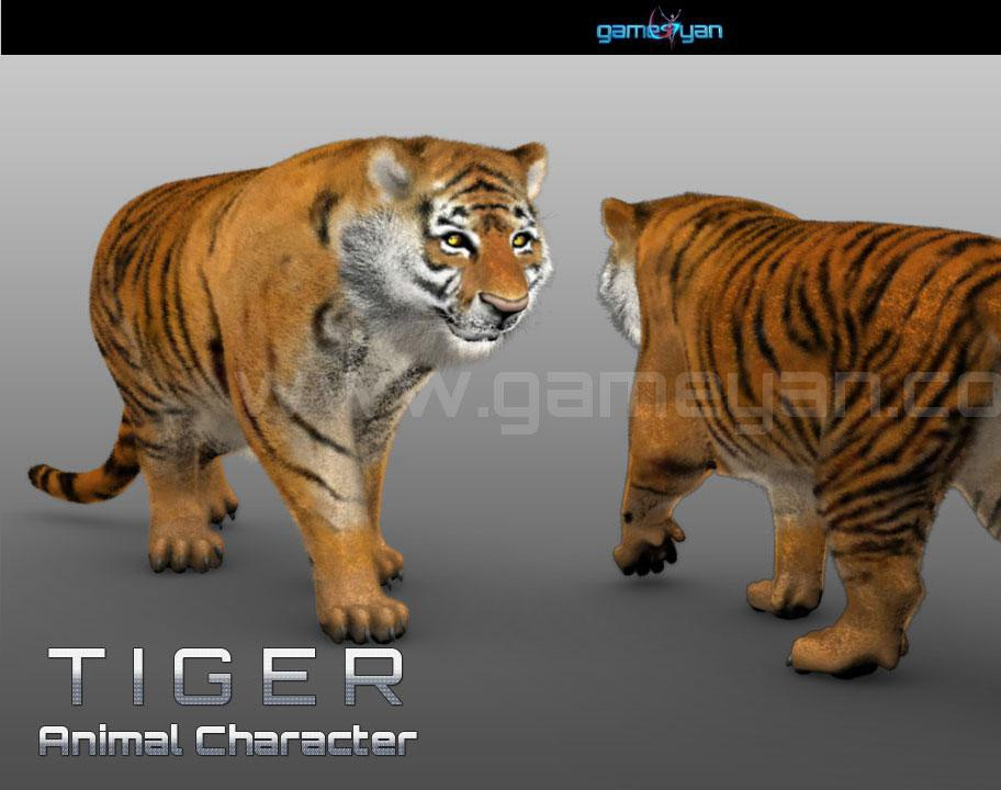 Tiger Animal Character Modeling by GameYan