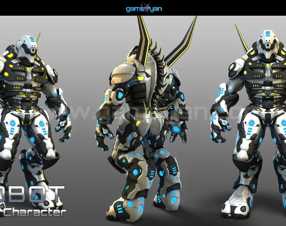 3D Robot Game Character Modeling Toronto, Canadaby GameYan