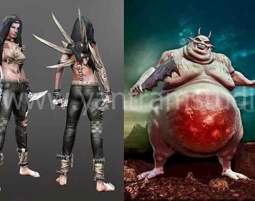 Game assets Character Modelingby GameYan