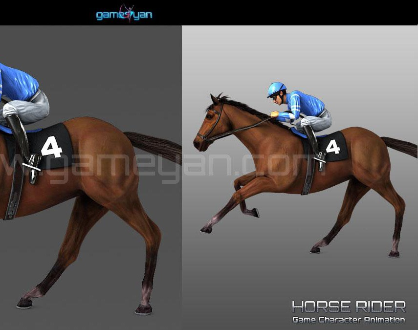 Horse Rider Game Character Modeling Studioby GameYan