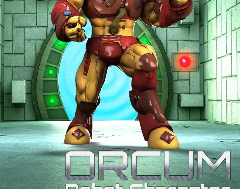 3D Orcum Robot Character Modelingby GameYan