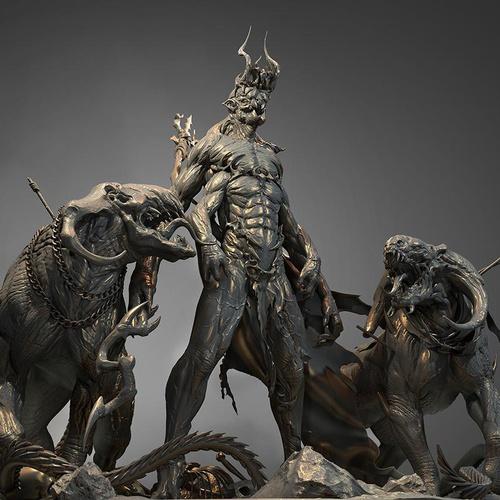 Persian Iranian Zoroastrian god demon