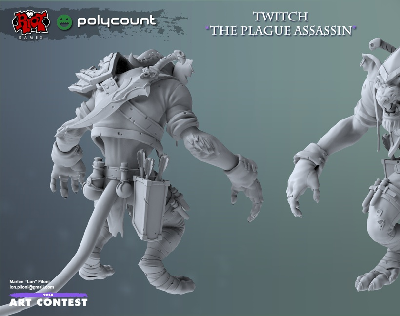 Twitch - The Plague Assassin Highpolyby Marlon Piloni