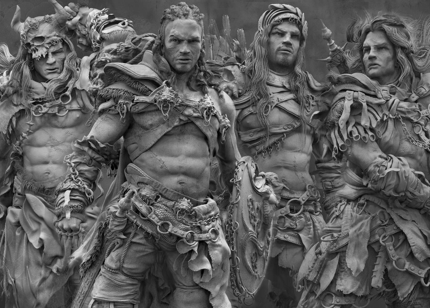 warrior group 3d model