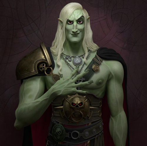 male vampire warrior character design