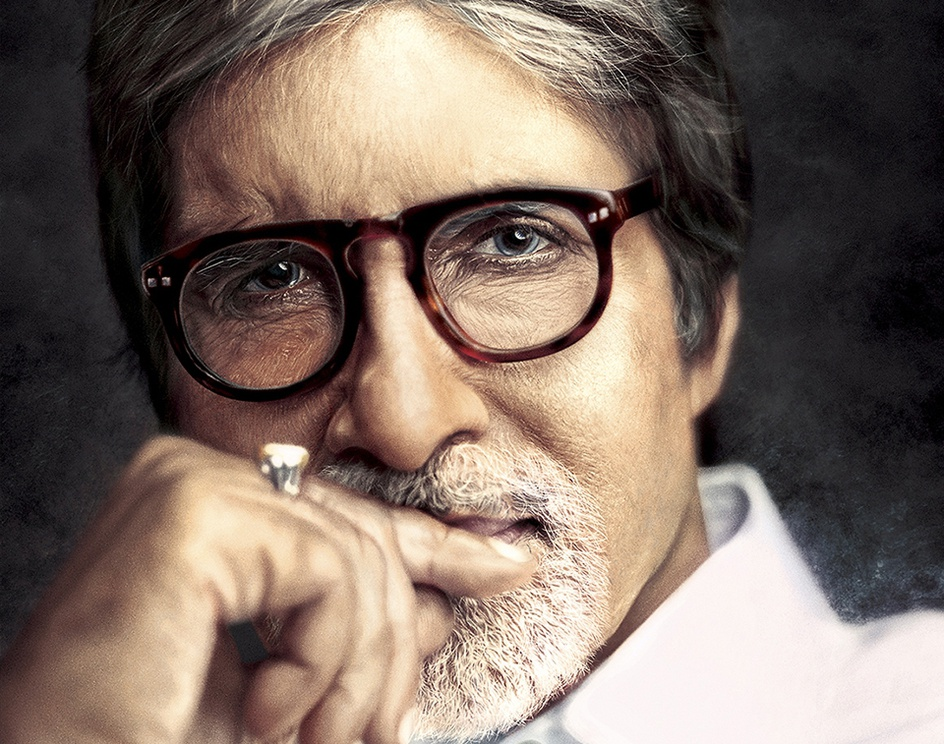 AMITABH BACHCHAN Realism Digital Paintingby Vivek Mandrekar