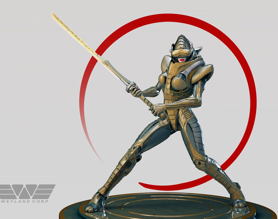 Olympia - sci-fi samuraiby Oscarini