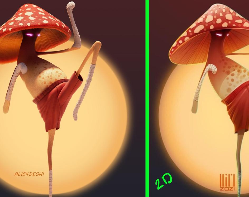 Mushroom fighterby ali_s4deghi