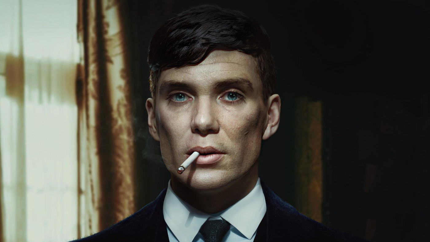 tommy shelby peaky blinders bbc show portrait
