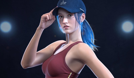 3d female character sportswear activity physical sports