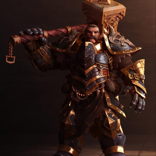 hammer wielding knight 3d