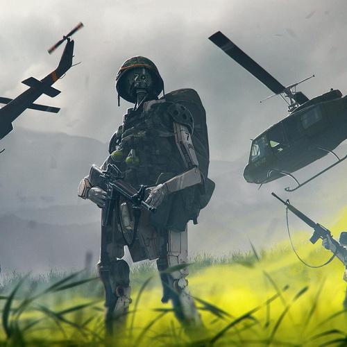 warzone 3d model robot soldier
