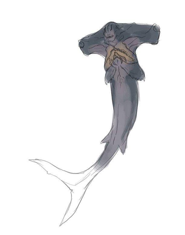 grotesque mermaid