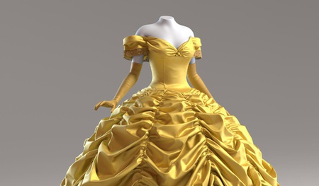 disney belle beauty and the beasts 3d dress