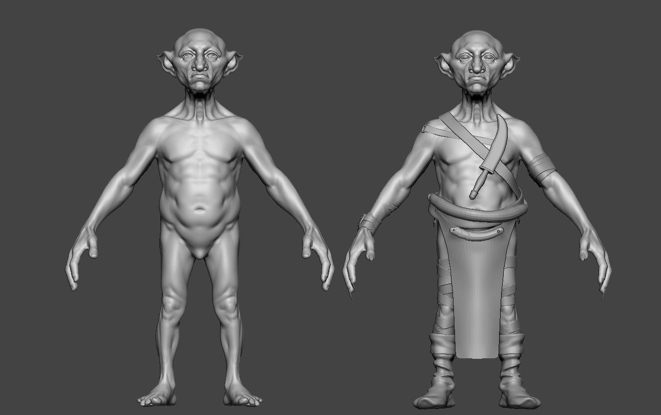 basic character model 3d zbrush render reference
