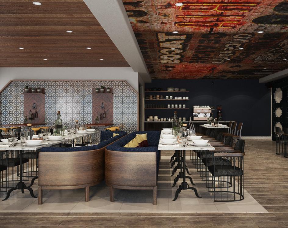 Loft style dining roomby Archviz.Studio