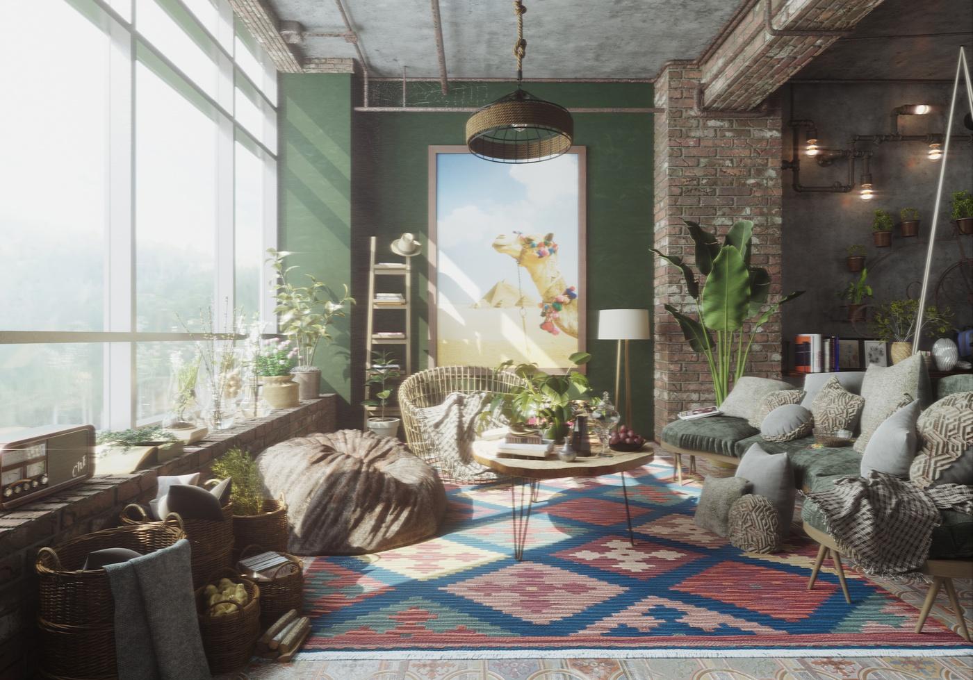 interior housing 3d realistic models 3d
