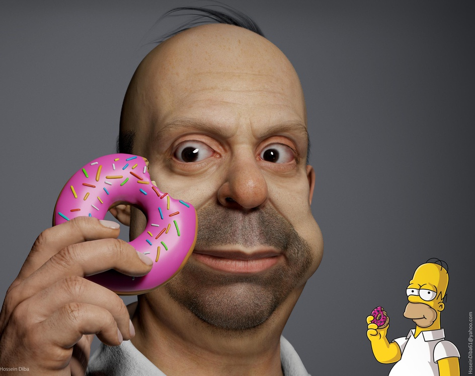 3D Model of Homer Simpson(Real time)by Hossein_Diba