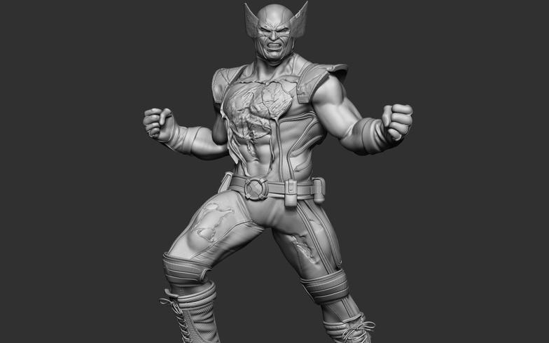wolverine marvel 3d model